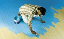 Технология покраски деревянного пола