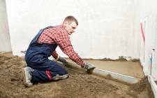 Укладка цементно-песочной стяжки