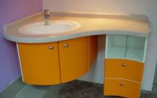 Выбор угловой мебели для ванной