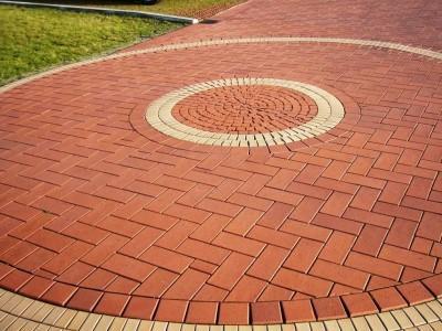 тротуарная плитка в форме круга