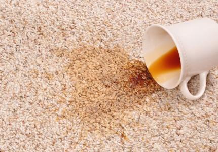ковролин облитый кофе