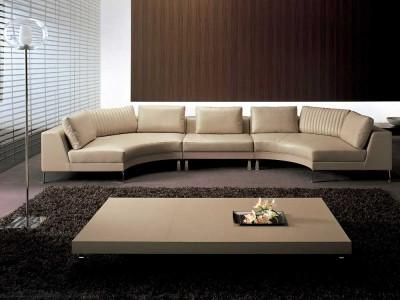 гостинная с дизайнерской мебелью