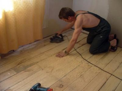 обработка деревянного пола