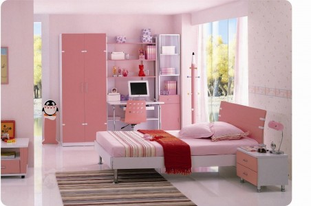 светло розовая детская комната