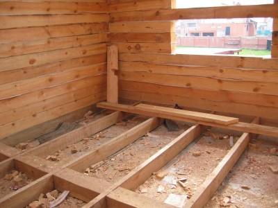 подготовка пола в деревянном доме
