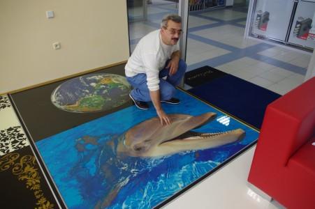 наливной пол с дельфином