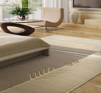 песочный ковер в гостинной
