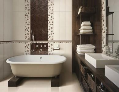 кремово коричневая отделка стен