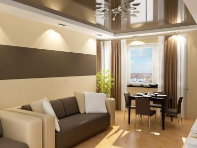 кремово-кофейный интерьер квартиры