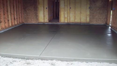поэтапная заливка бетона на пол