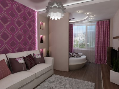 Как с помощью дизайна разделить одну комнату на две